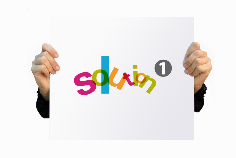 Solution 1 logo design