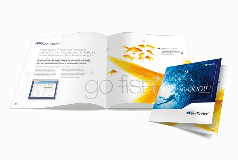 Netfinder brochure design