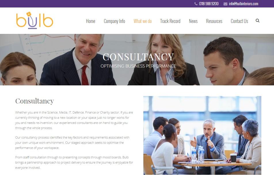 Website design & development -Bulb Interiors