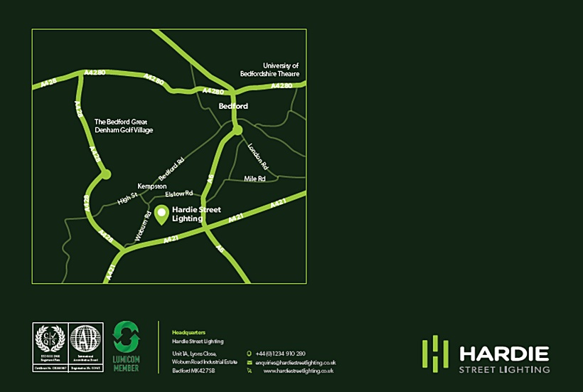 Brochure design - Hardie Street Lighting brochure by Protean Inbound, creative marketing agency in Reading.