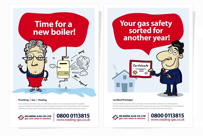 Graphic design and posters for Reading Gas