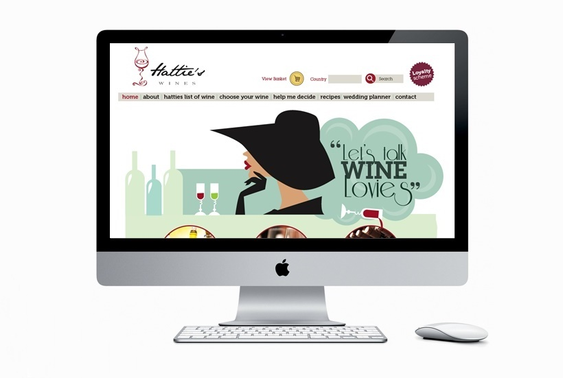 Website design & development - Hatties Wines